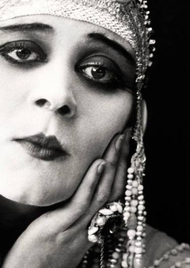 Silent film star Theda Bara in Cleopatra