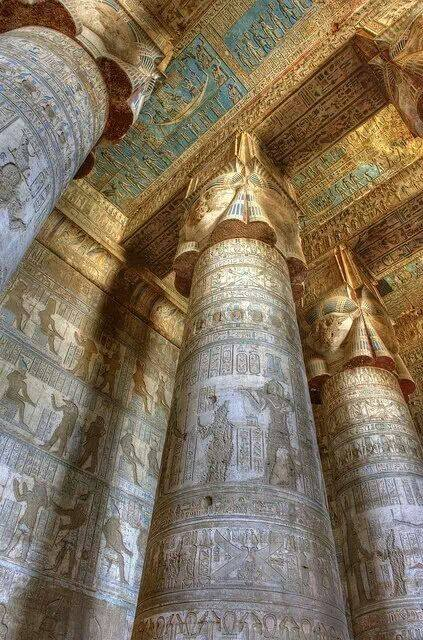Temple of Hathor Dendara, Egypt.