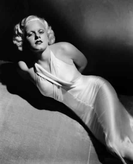 circa 1935: American film star Jean Harlow (1911 - 1937), displays her stunning figure to full effect. (Photo by George Hurrell/John Kobal Foundation/Getty Images)