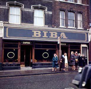 A9F9N1 BIBA boutique in Kensington Church Street their second location in 1967