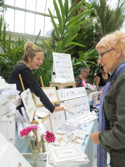 artisans in the palm house