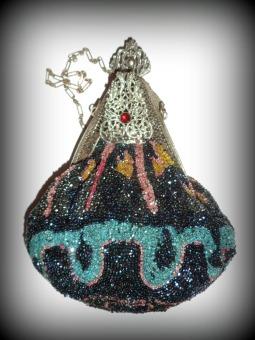 Antique hand made beaded bag